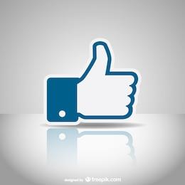 Social media like icon