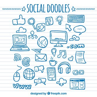 Social network doodles