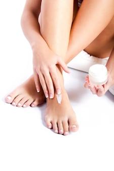 Softness women people clean waxing