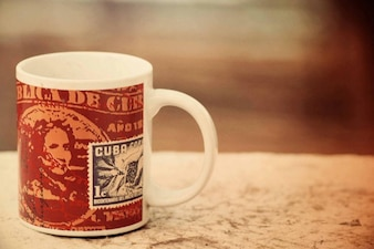 Souvenir cup of coffee