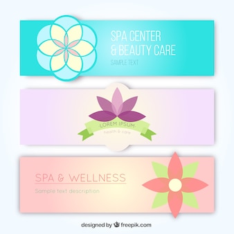 Spa center banners