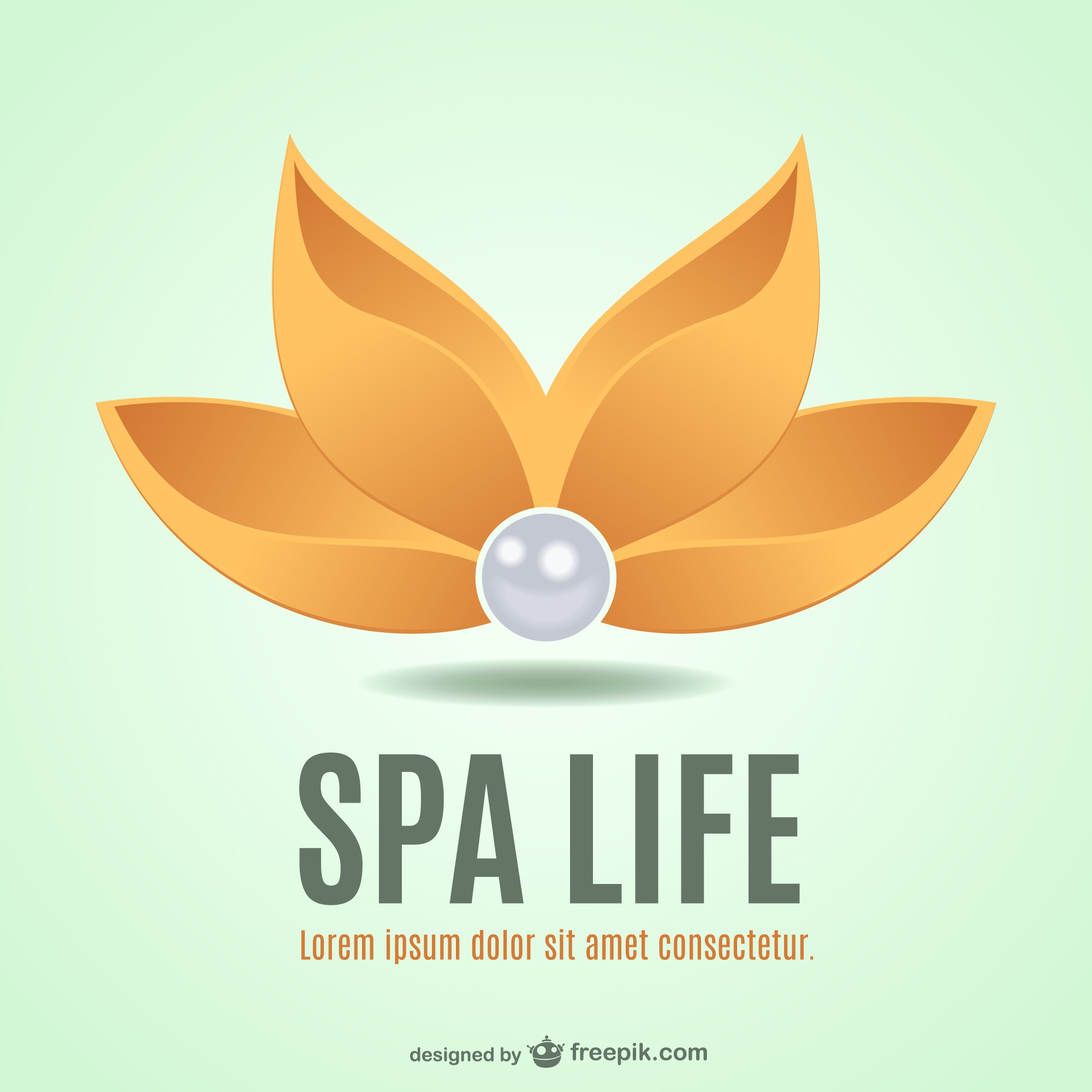 Spa flower vector logo