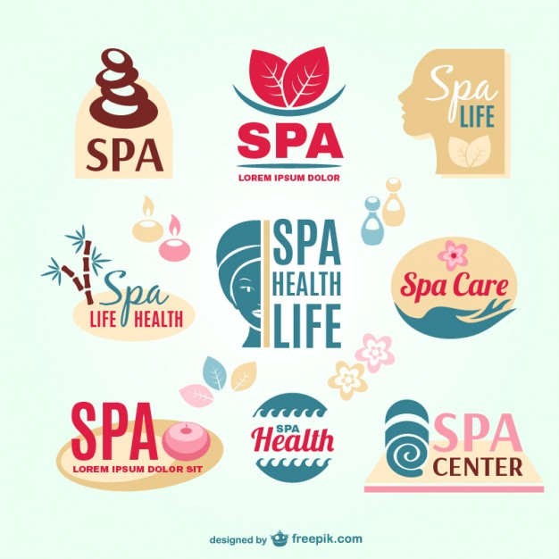 Spa resort logos