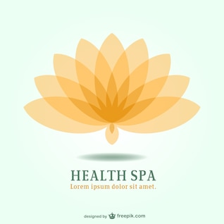 Spa resort lotus emblem logo