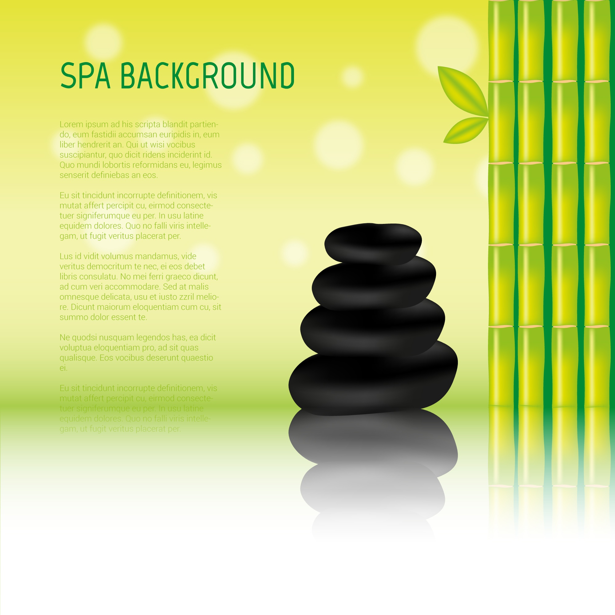 SPA stones vector background