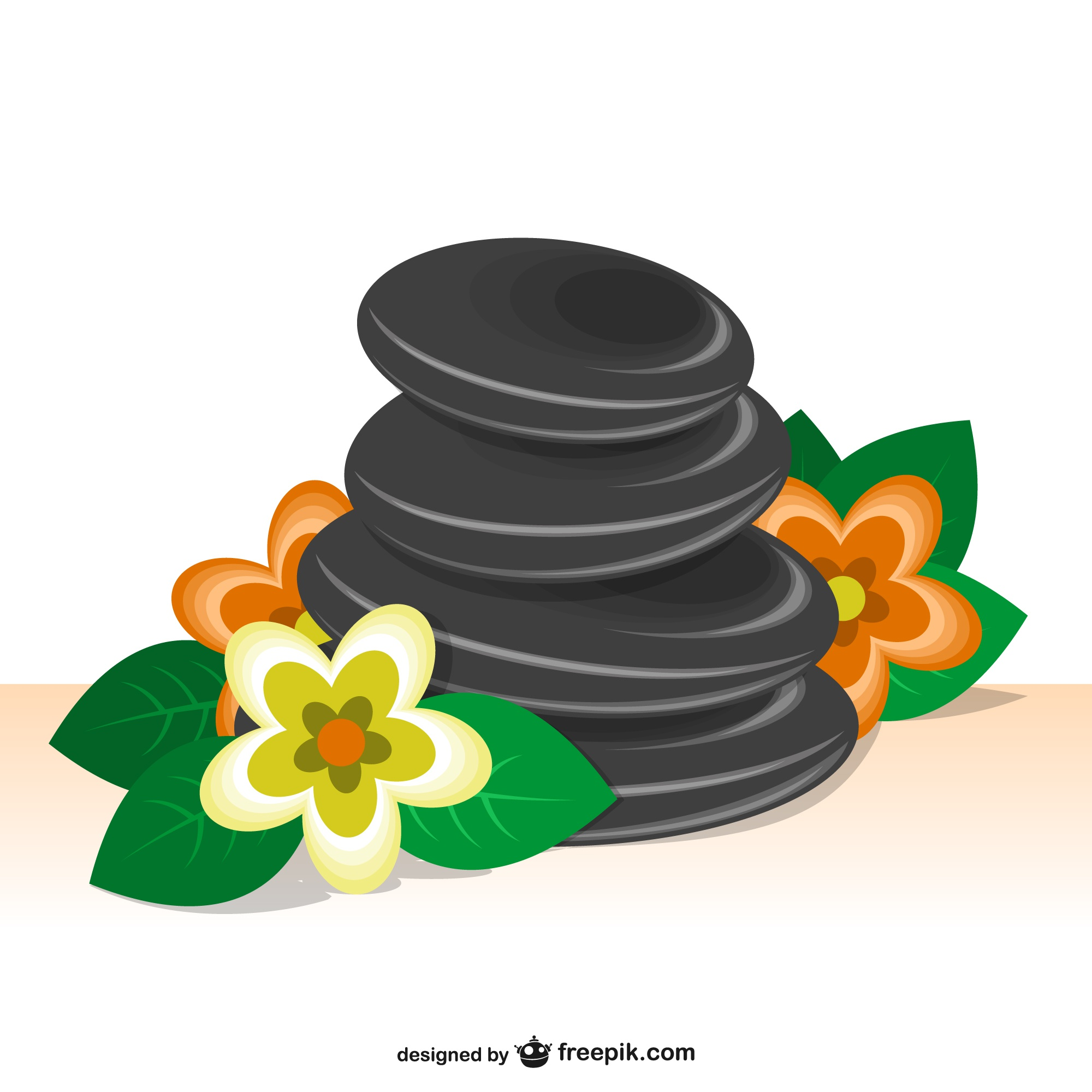 Spa stones vector illustration