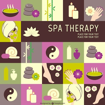 SPA therapy vector graphics