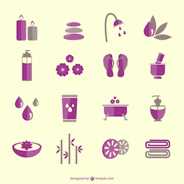 SPA therapy vector icons