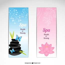 SPA vector banners