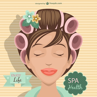 Spa woman illustration