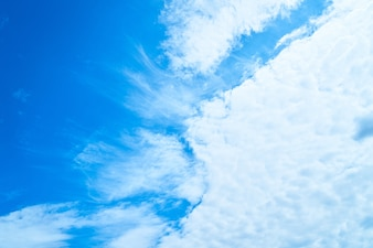 Space clouds background air blue
