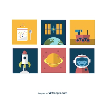 Space mission icons