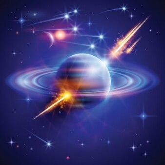 space planets abstract vector pack
