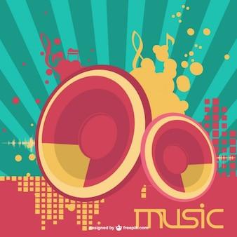 Speakers music vector
