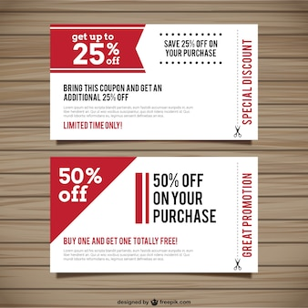Special discount coupons