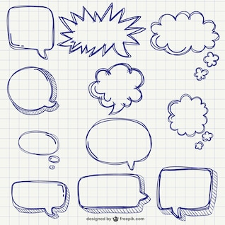 Speech bubbles pack