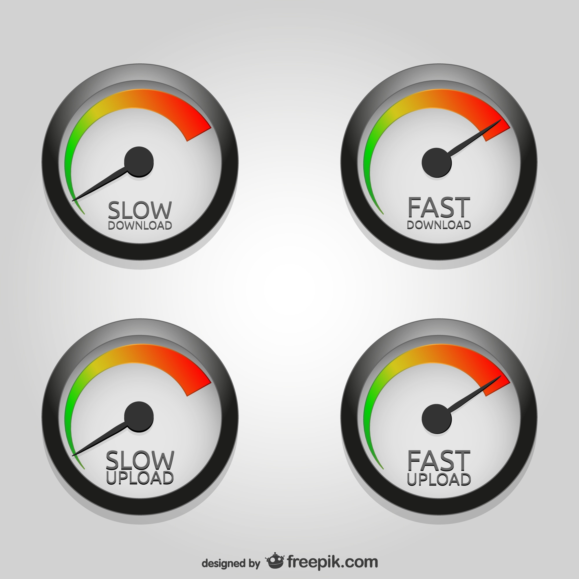Speedometer download upload vector art