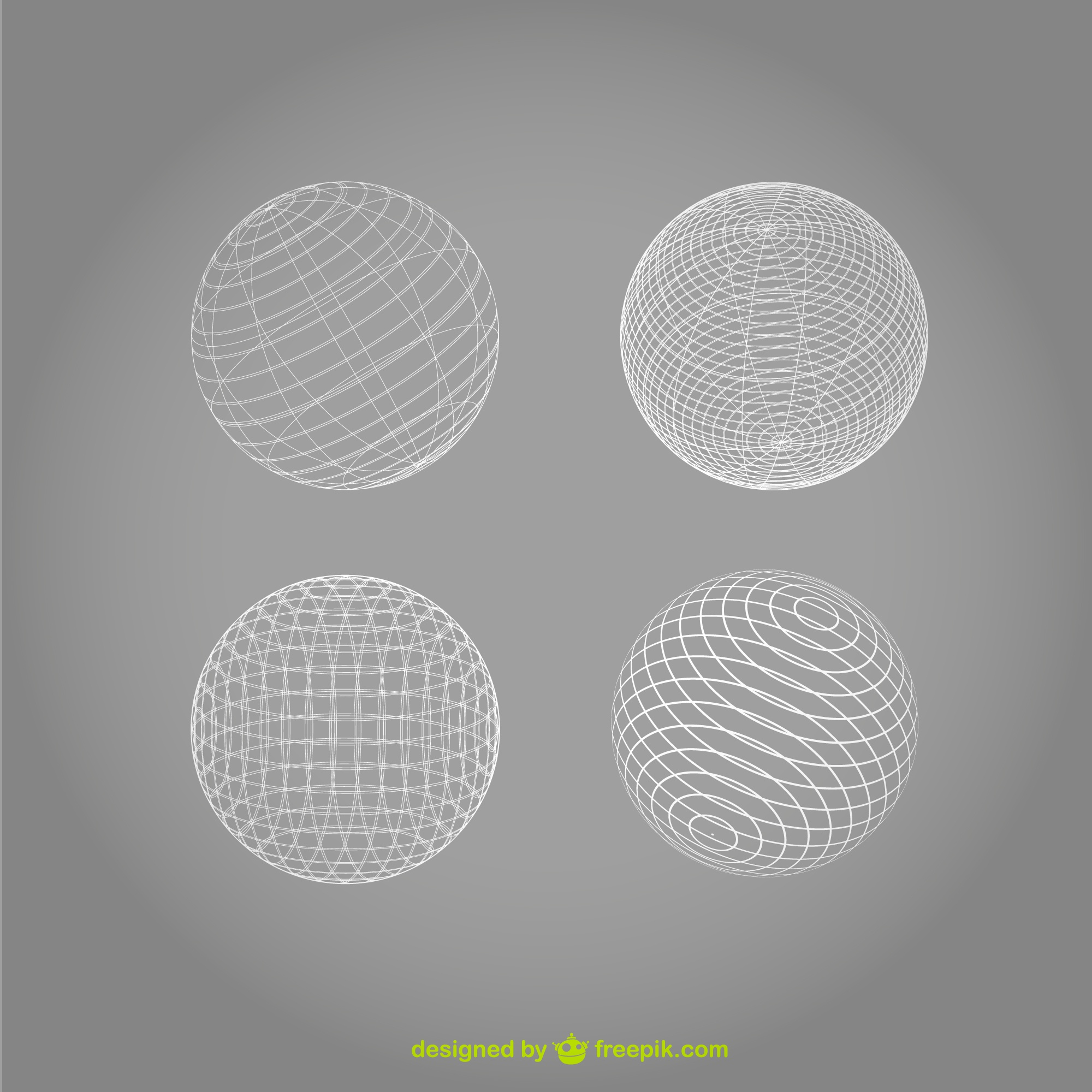 Sphere vector wireframe design