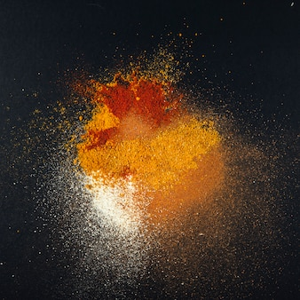 Spices composition background