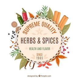 Spices shop emblem