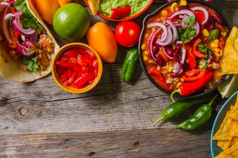 Spicy mexican food