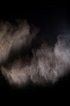 Splashing of dust powder