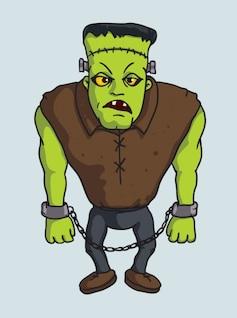 Spooky Frankenstein monster vector character
