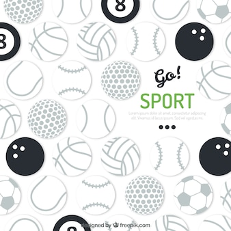 Sport balls background