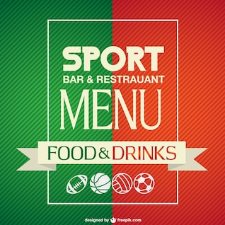 Sport bar menu template