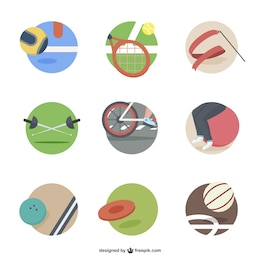 Sport elements icons