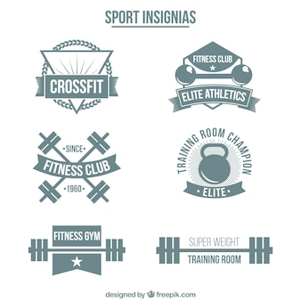 Sport insignias collection