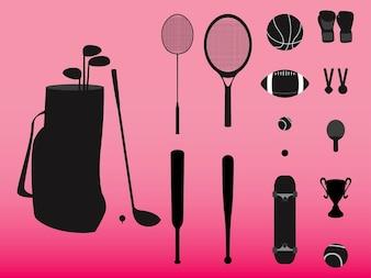 Sports gear bag and balls vector