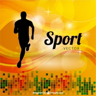 Sports runner background