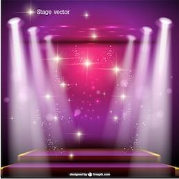 Spotlight stage vector free design
