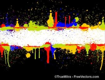 Spots of colour paints banner