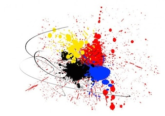 spray dab embroidery color colorful