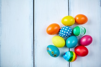 Spring decorated egg composition symbol