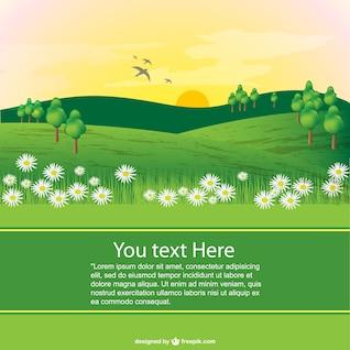 Spring landscape template