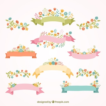 Spring ribbon banners