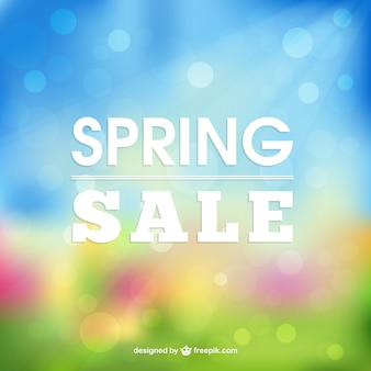 Spring sale brighting background