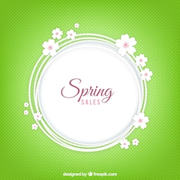 Spring sales background