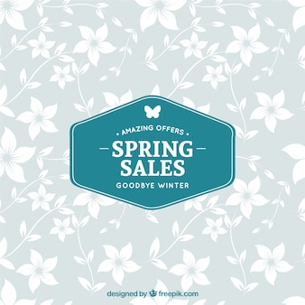 Spring sales label
