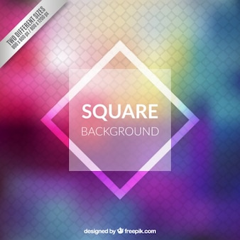 Square background in colorful style