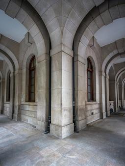 Square of vintage building