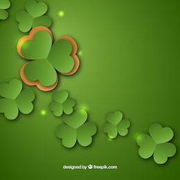 St patrick background with clovers