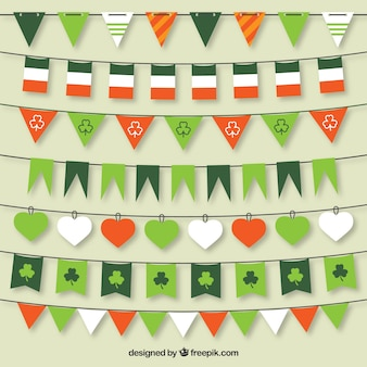 St Patrick bunting flags collection