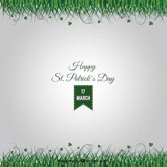 St patrick card with grass