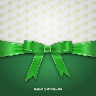 St patrick day card with ribbon