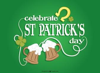 St Patrick's celebration vector