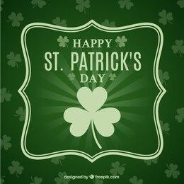 St Patricks day card in green tone